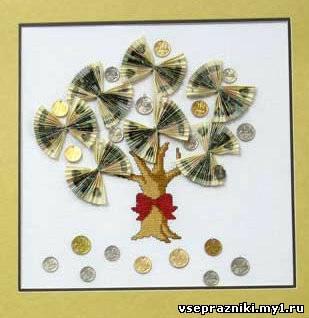 Денежное дерево своими руками монетками